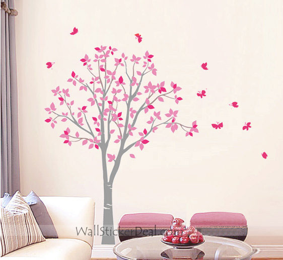 tree butterfly wall stickers home decorating photo dandelion blossom wall decals stickers appliques home decor