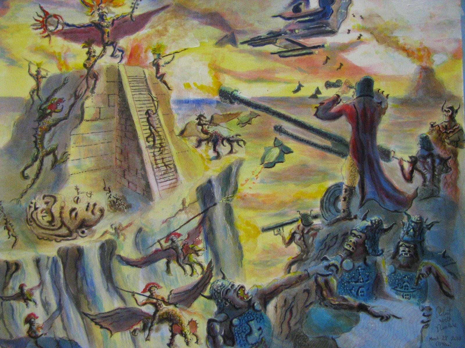 Trippy Wallpaper Iphone X Http Robertworth Elfwood Com Demon Battle In Mayan