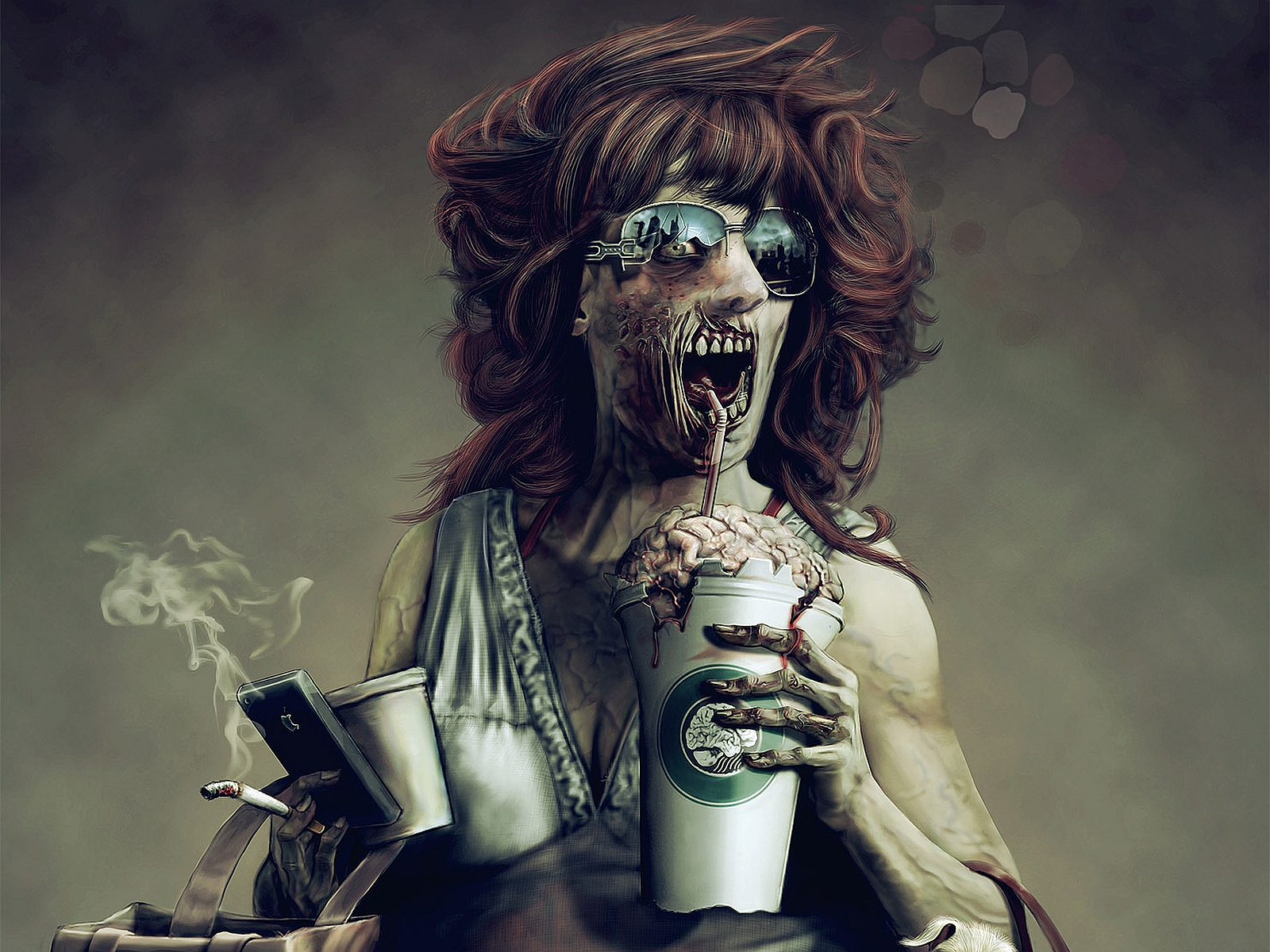 3d Skull Hd Wallpaper Download Zombie Wallpaper And Background Image 1600x1200 Id 326045