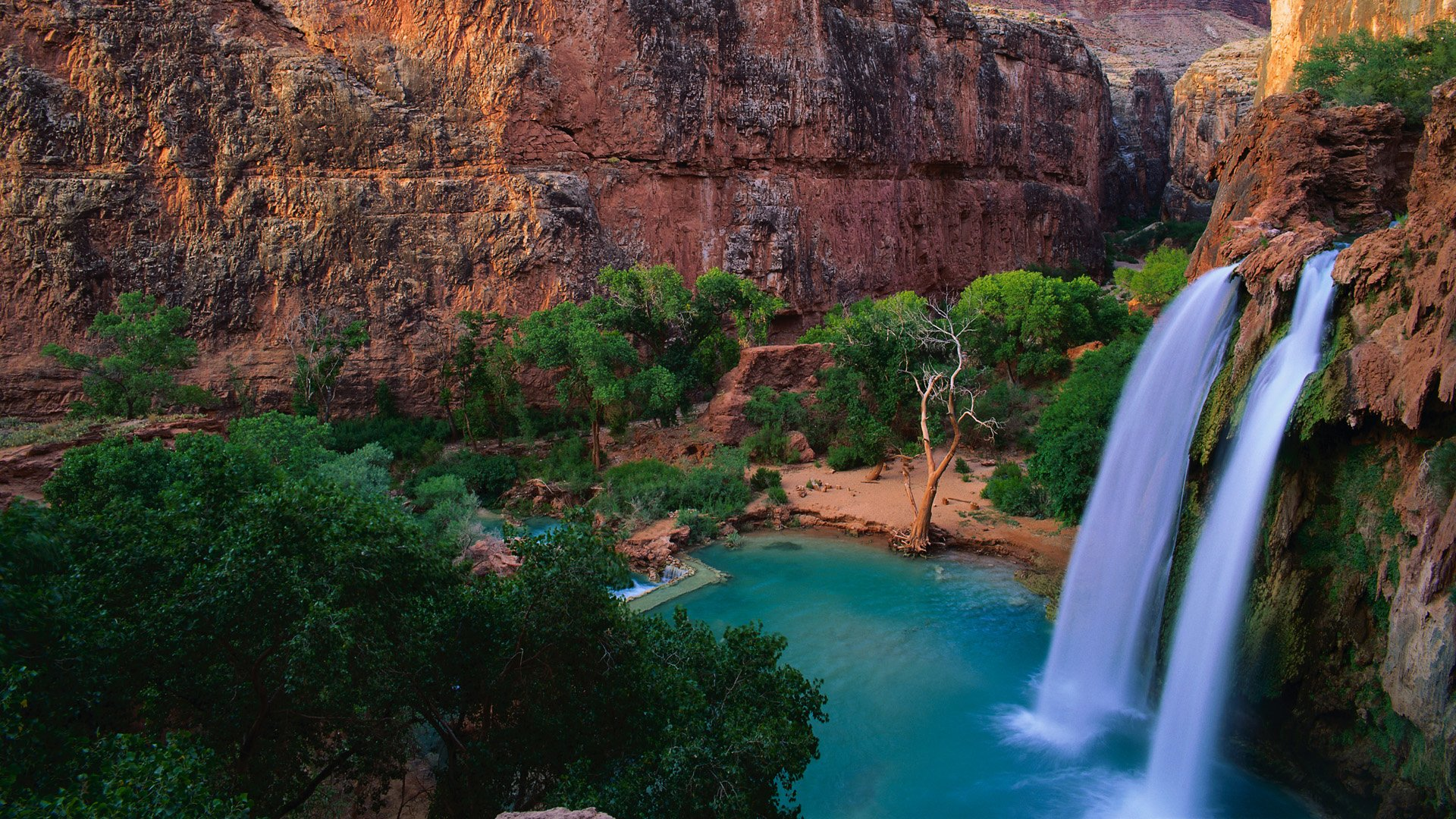 Havasu Falls Wallpaper Havasu Falls Hd Wallpaper Background Image 1920x1080