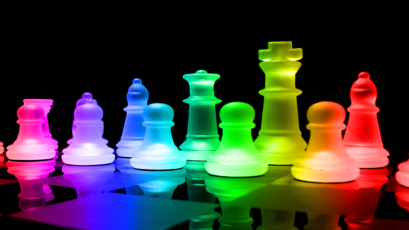 3d Dice Desktop Wallpaper Rainbow Chess Wallpaper And Background Image 1366x768