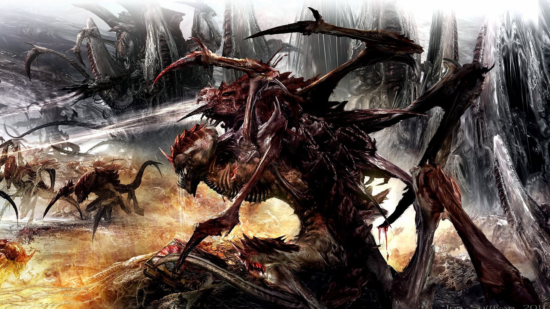 Hd Game Wallpapers For Iphone 6 Tyranids Full Hd Wallpaper And Background Image