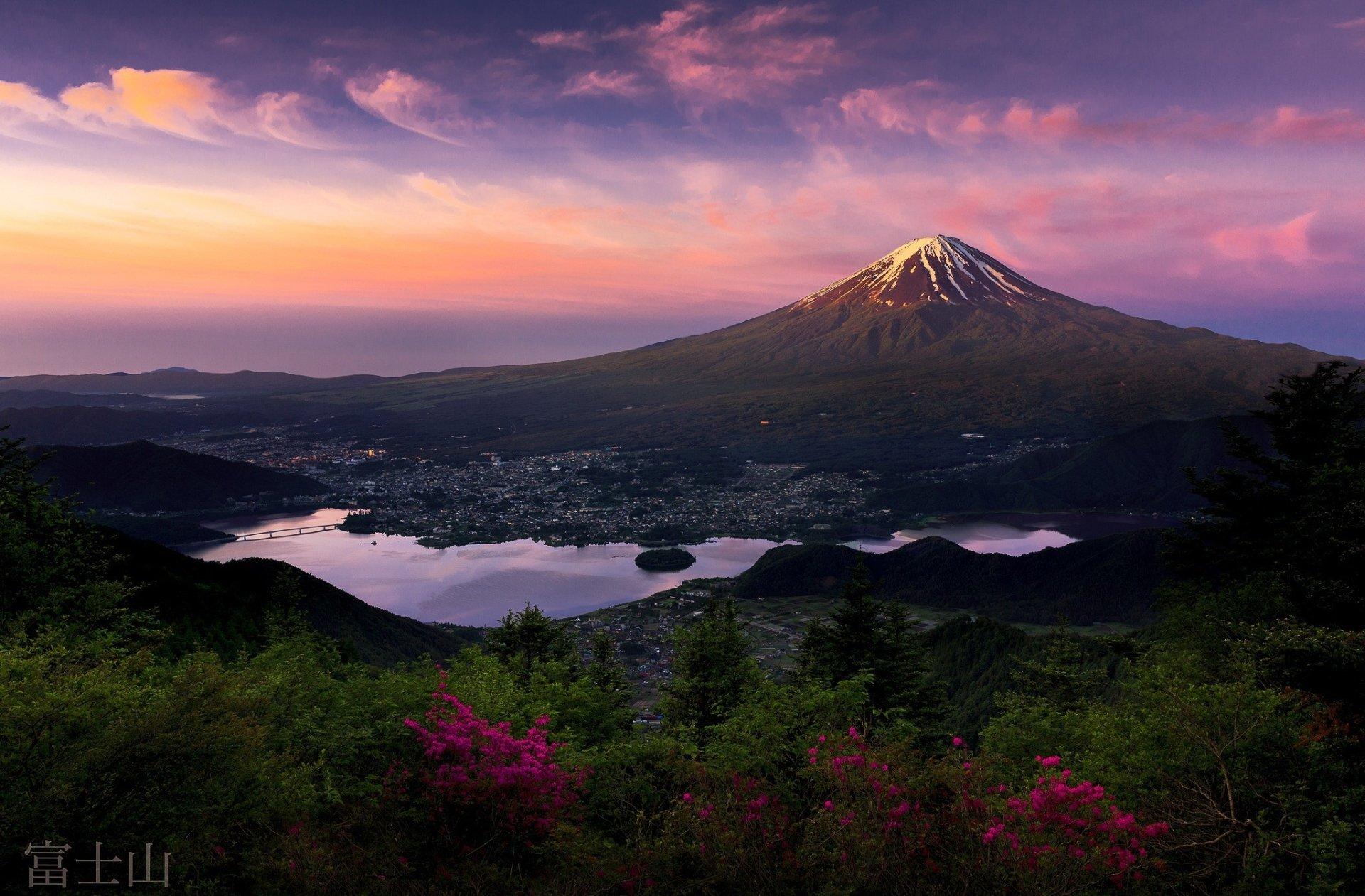 Mount Fuji Wallpaper Iphone Fujiyama Sunrise Hd Wallpaper Background Image