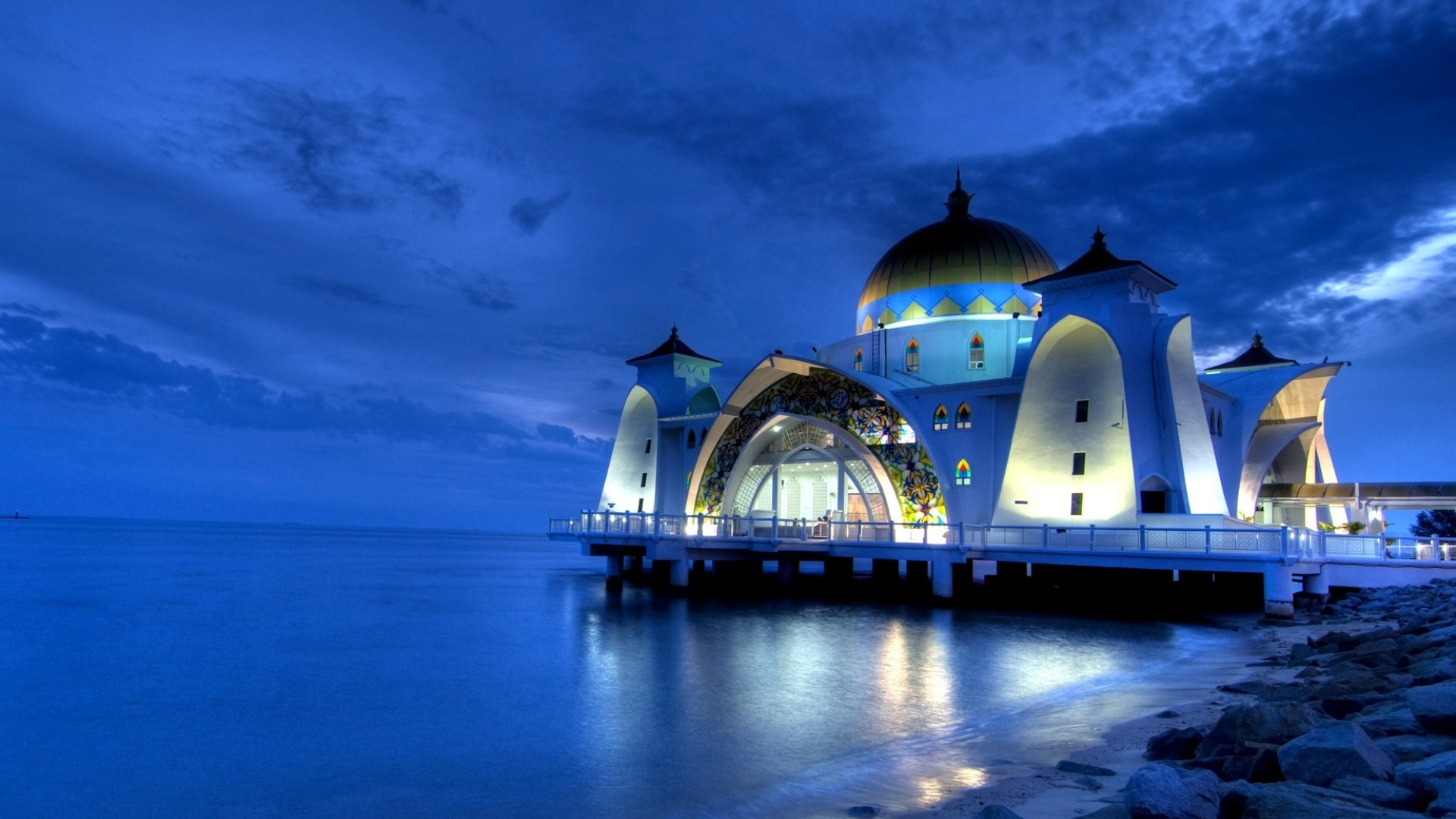 Islamic 3d Wallpapers For Pc Free Download Masjid Selak Melaka Hd Wallpaper Background Image