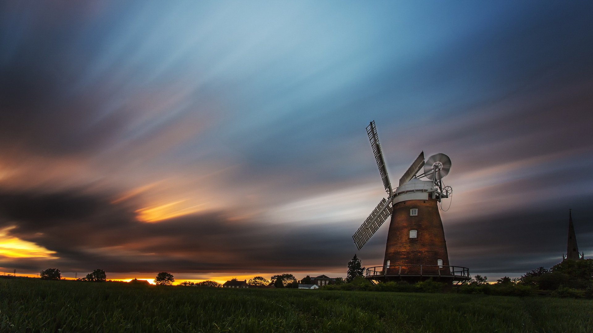 Beautiful Wallpapers For Iphone 6 Plus Windmill Hd Wallpaper Background Image 1920x1080 Id