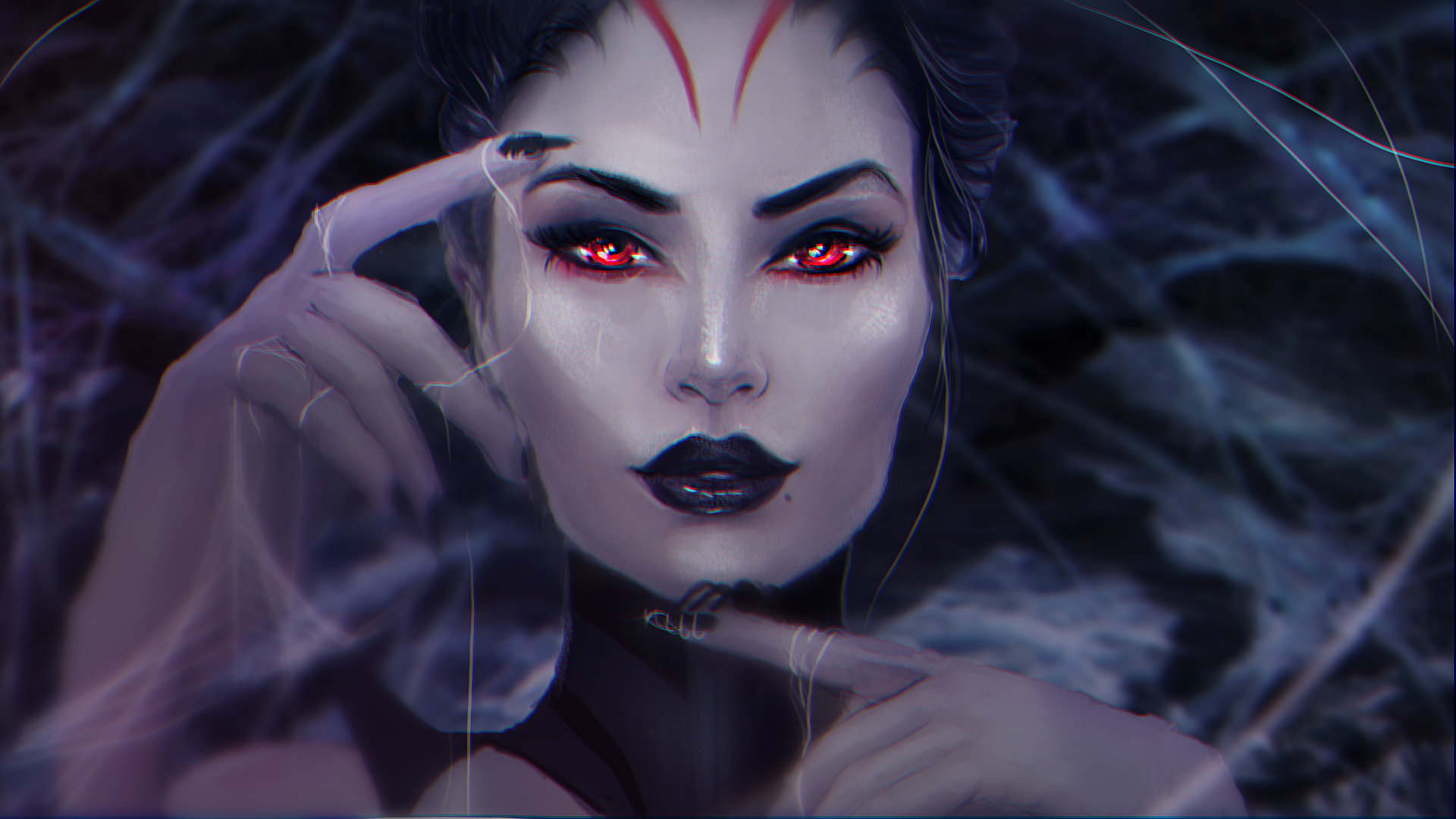 Goth Girl Wallpaper 1440x2960 Elise The Spider Queen Hd Wallpaper Background Image