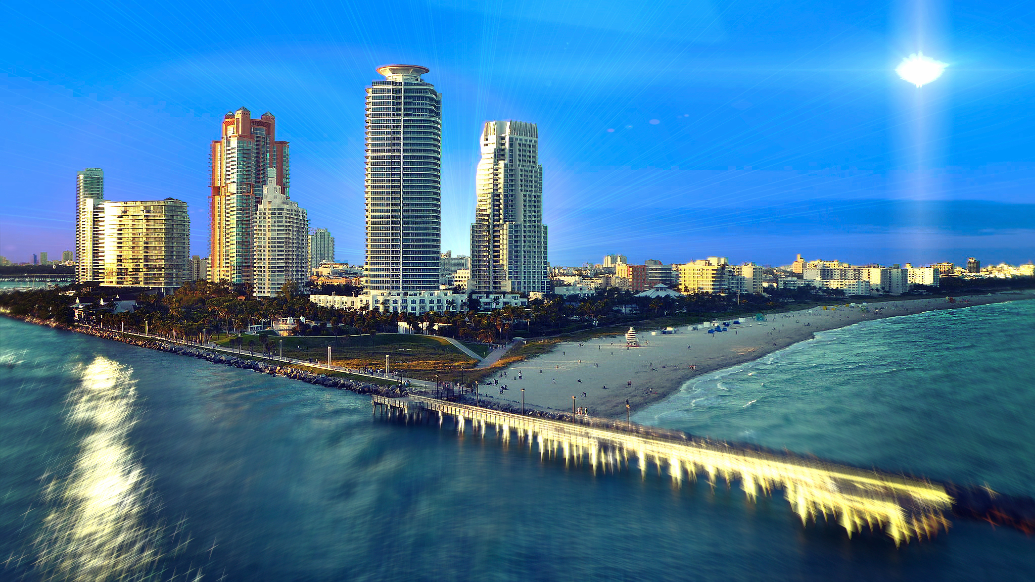 Los Angeles Wallpaper Iphone 6 Plus Miami Hd Wallpaper Background Image 2048x1152 Id