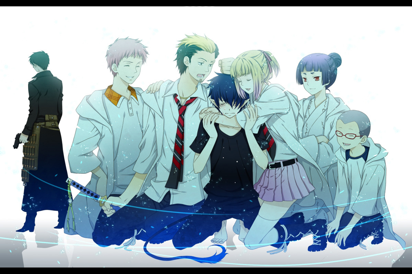 Blue Exorcist Wallpaper Hd Ao No Exorcist Wallpaper And Background 1366x911 Id 640541