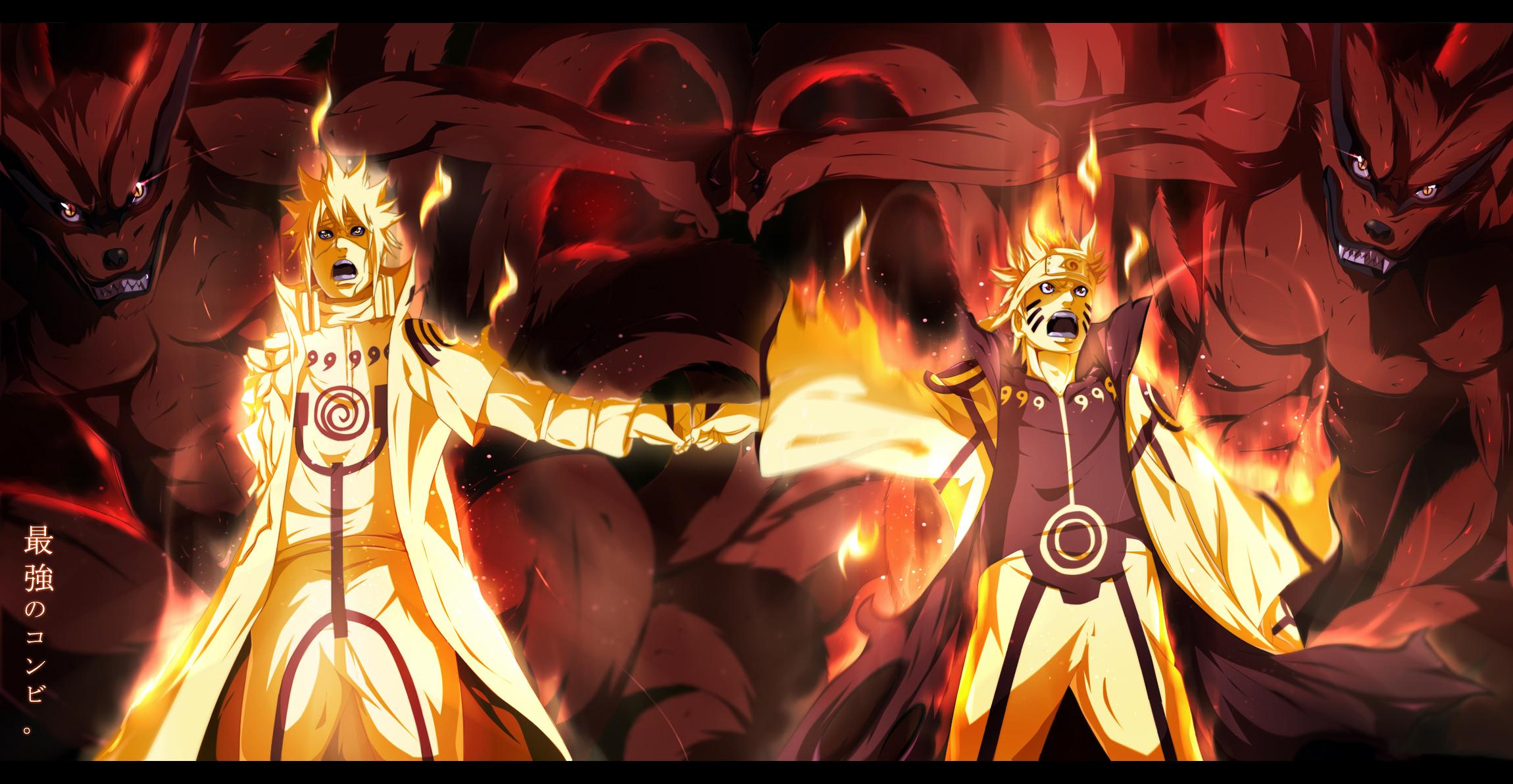 Naruto Hd Wallpaper 1600x900 Anime Naruto Naruto Uzumaki Minato Namikaze Kurama Sfondo