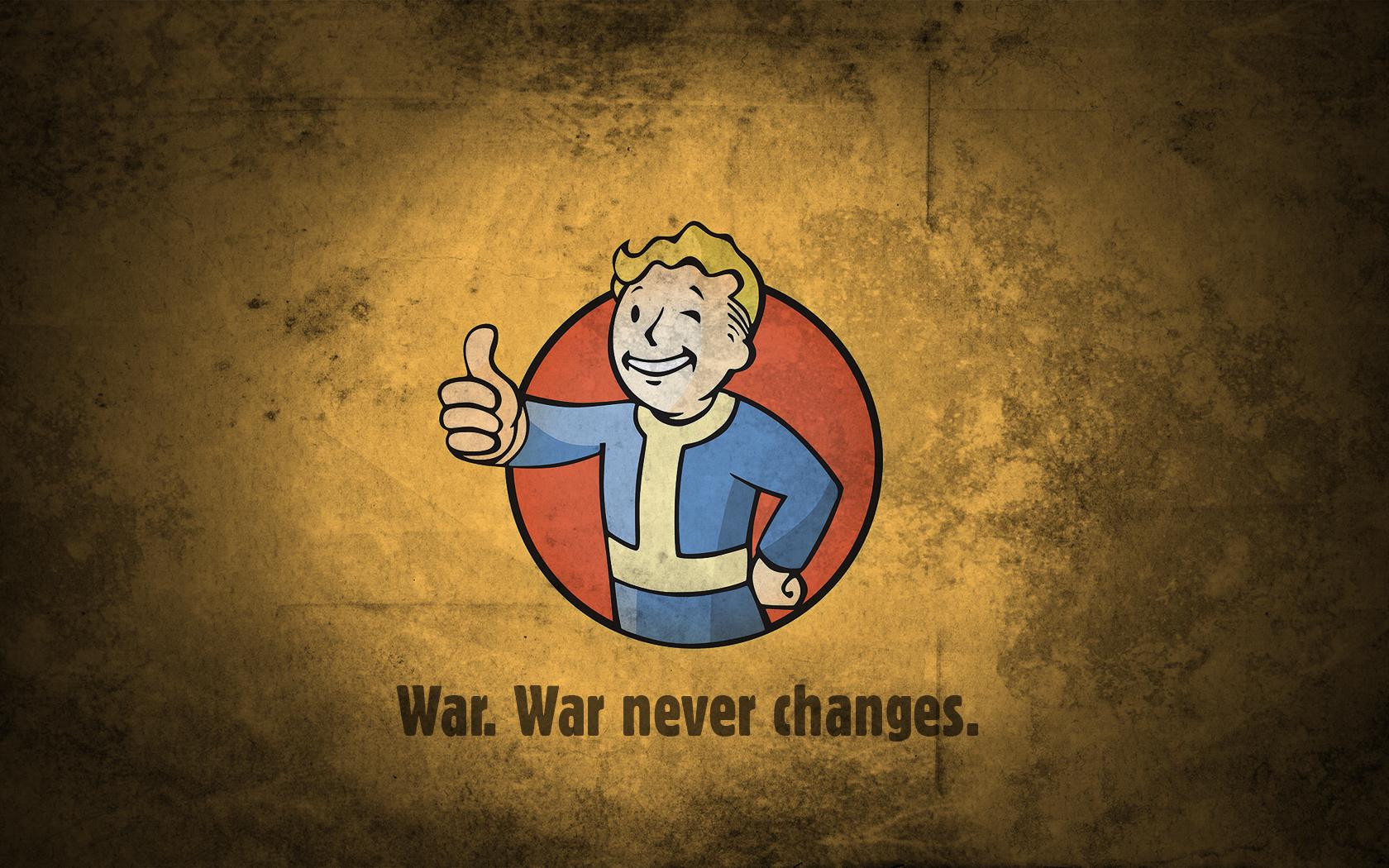 Fall Out Boy Wallpaper Desktop Fallout Vault Boy War Never Changes Fond D 233 Cran And