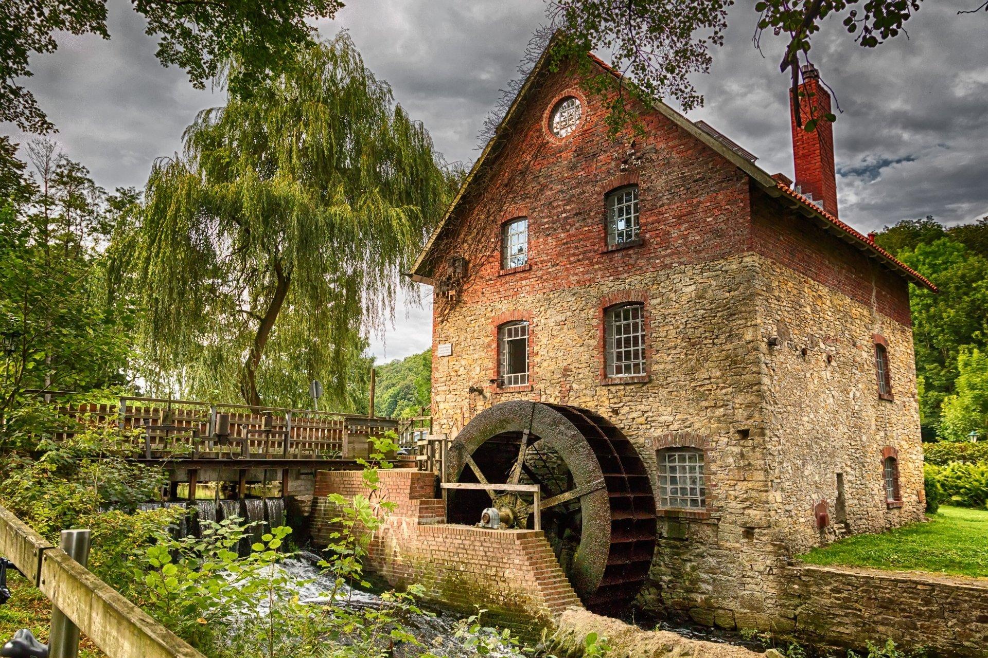 Iphone X Wallpaper Gif Landscape Watermill 5k Retina Ultra Hd Wallpaper Background Image