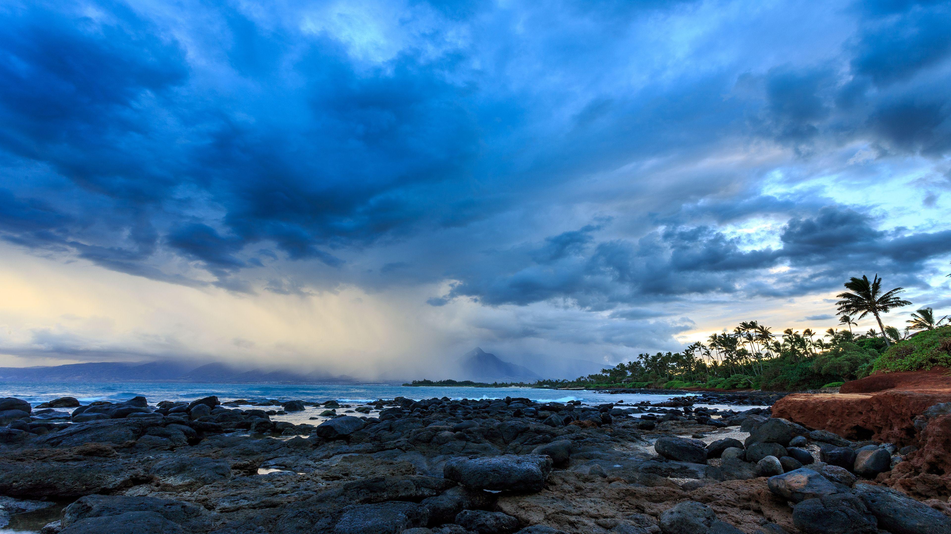 Surf Wallpaper Iphone X Blue Clouds Over Tropical Beach 4k Ultra Hd Wallpaper