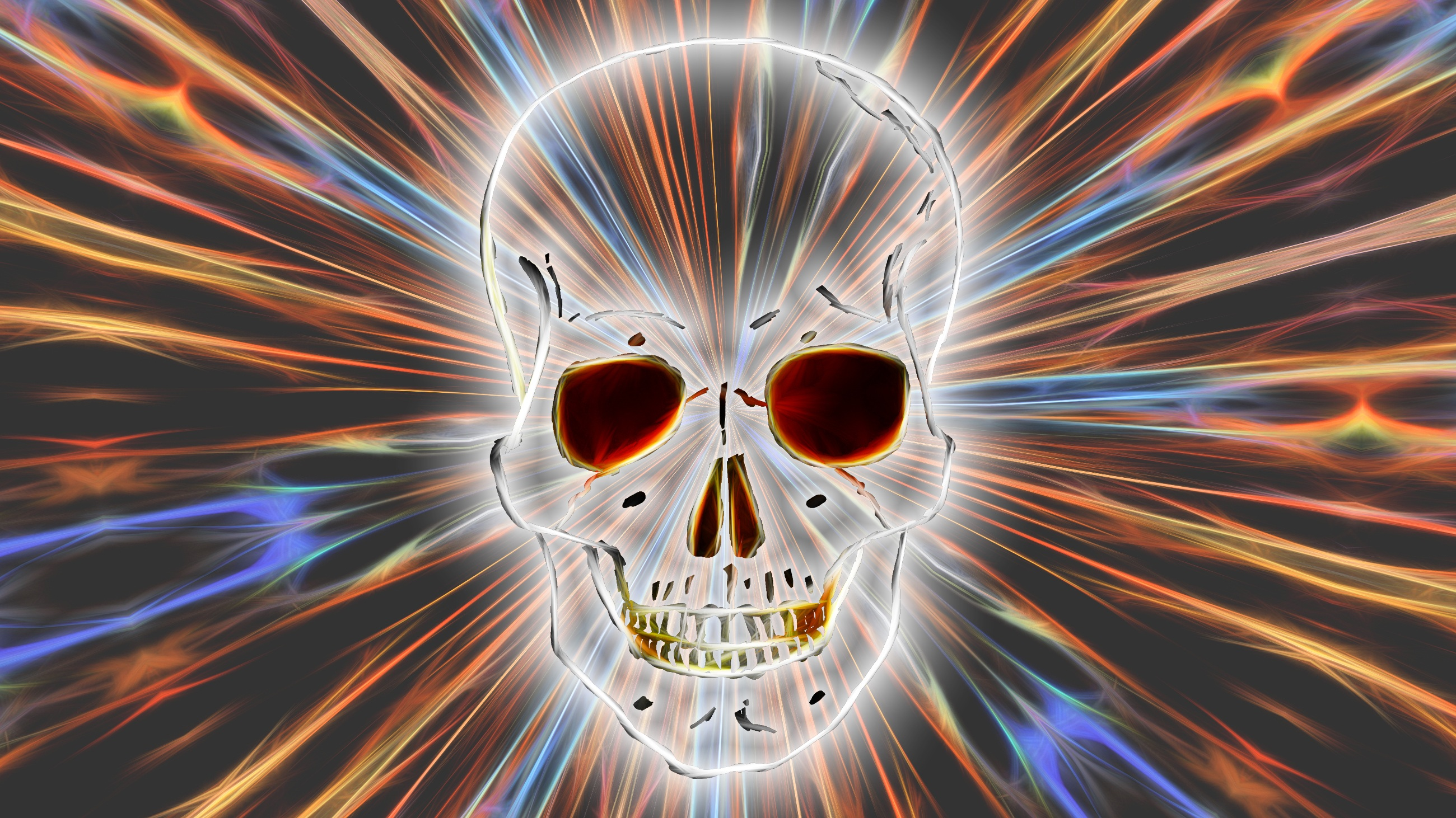 Iphone X Moving Wallpaper Electric White Skull Hd Wallpaper Background Image