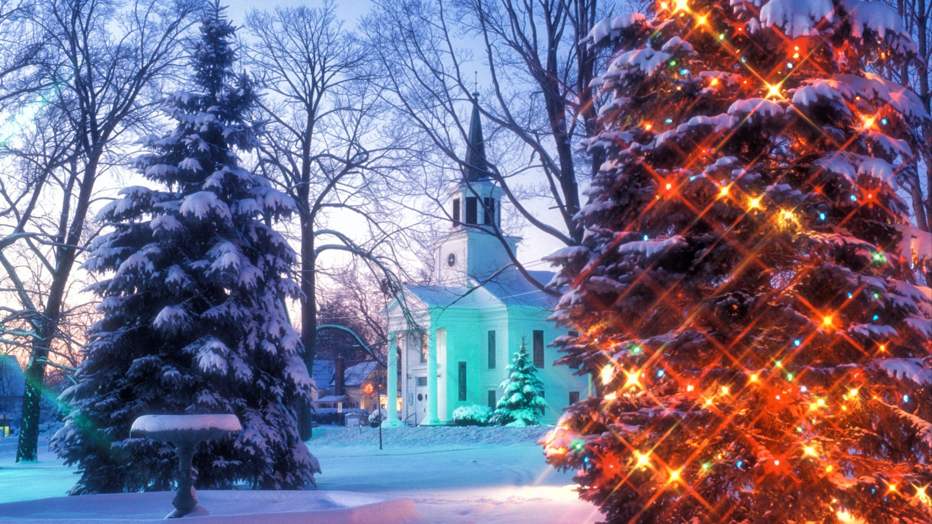 Falling Snow Wallpaper Iphone 5 Christmas In Vermont Hd Wallpaper Background Image