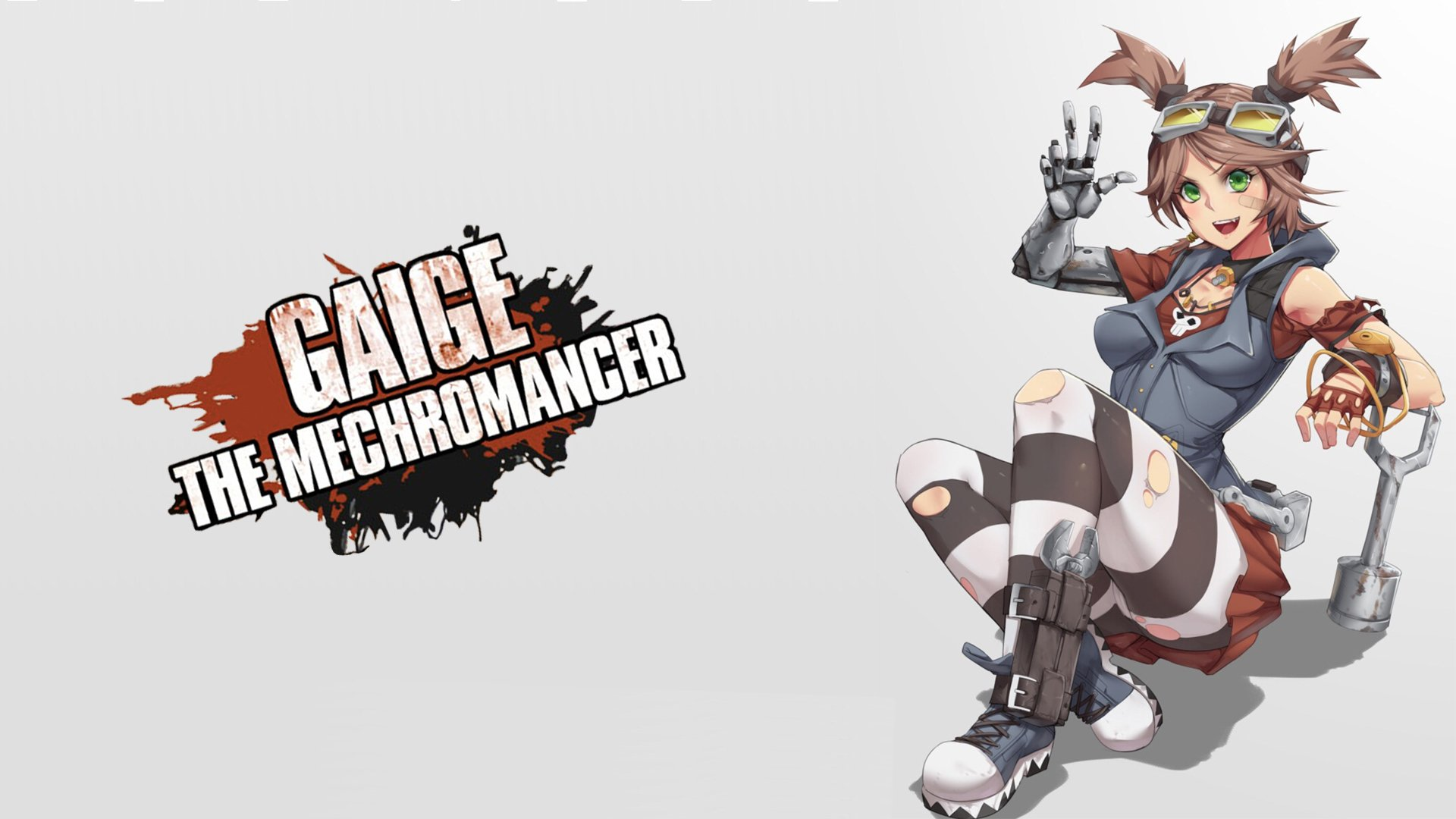 Gif As Wallpaper Iphone Gaige The Mechromancer Hd Wallpaper Background Image