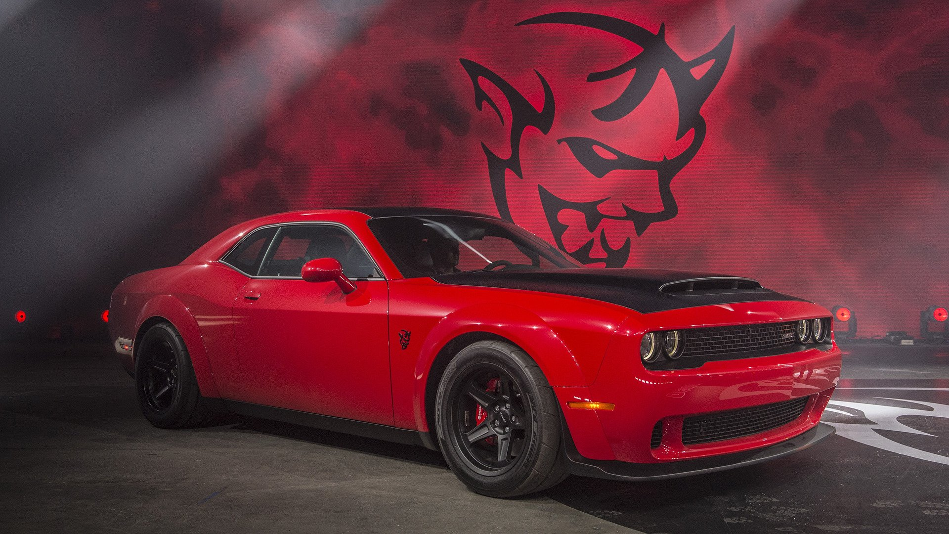 Muscle Car Wallpaper Iphone 6 Dodge Challenger Srt Demon Full Hd Papel De Parede And