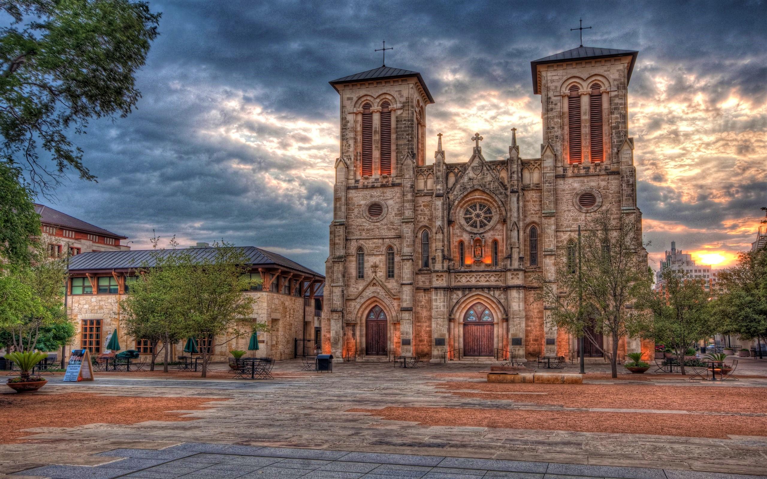 Hd Lavender Wallpaper San Fernando Cathedral In San Antonio Texas Usa Hd
