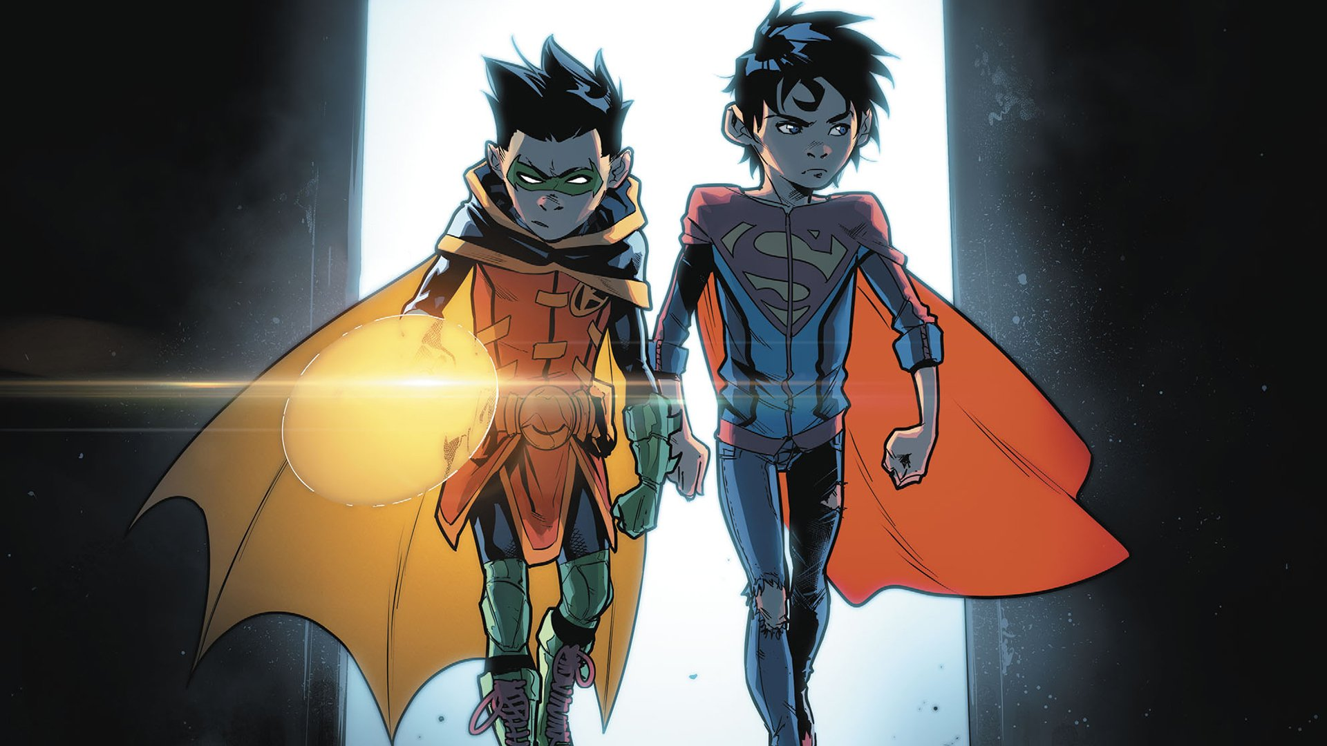 Superman Hd Wallpaper For Iphone 5 Robin And Superboy Hd Wallpaper Background Image