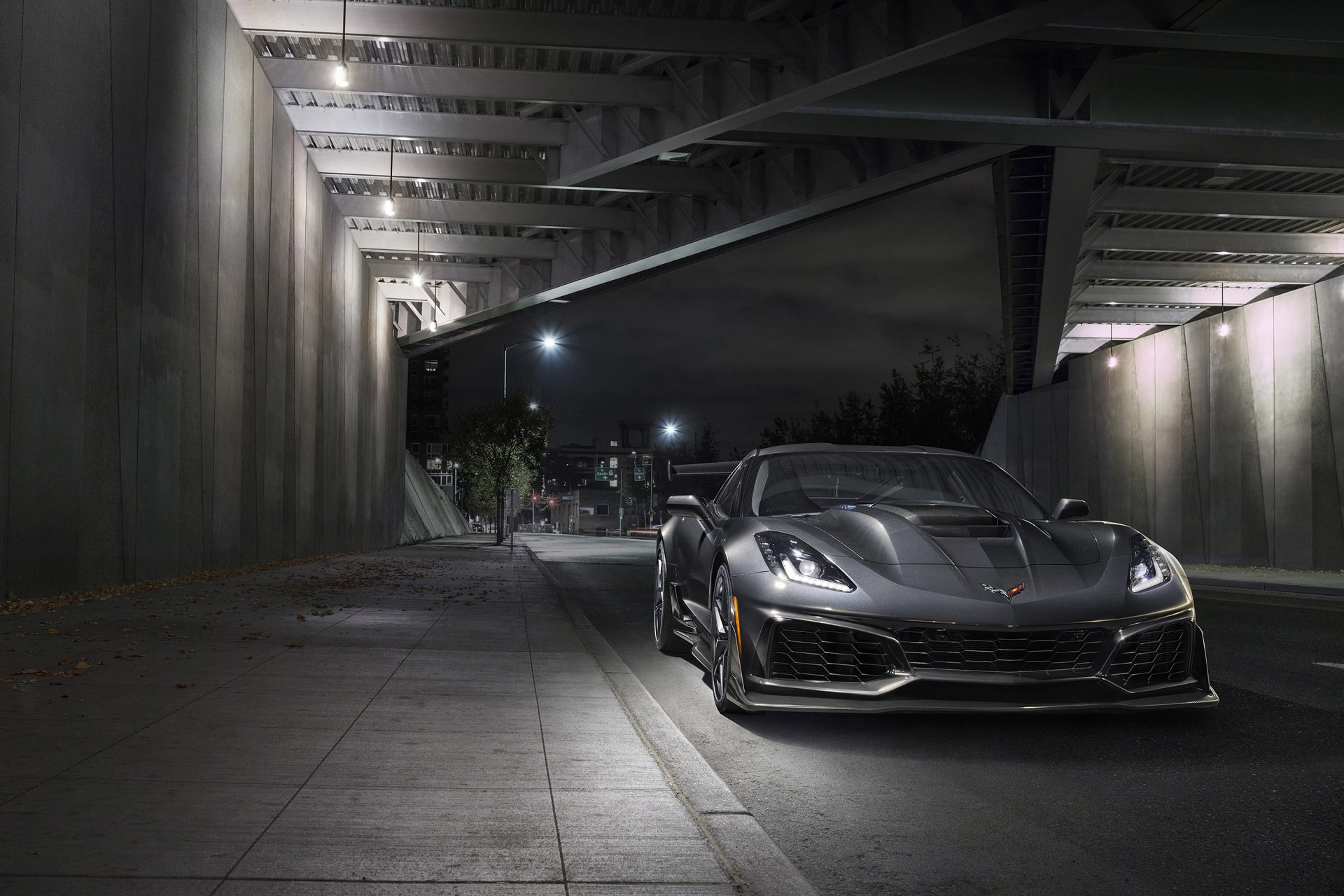 Wallpapers Of Car Corvette Convertible With Black Lights 2018 Chevrolet Corvette Zr1 Full Hd Wallpaper And