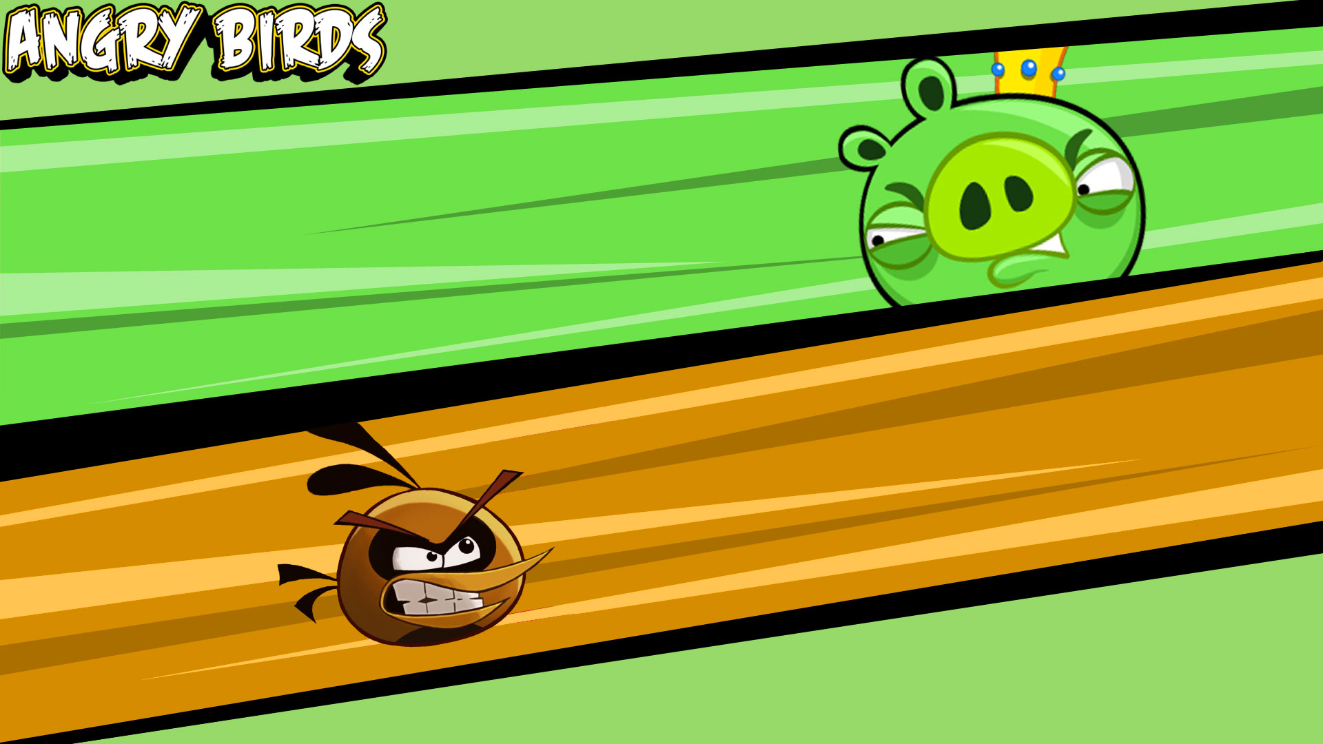 Angry Bird Space Wallpaper 3d Angry Birds Images Orange Bird Vs King Pig Hd Wallpaper
