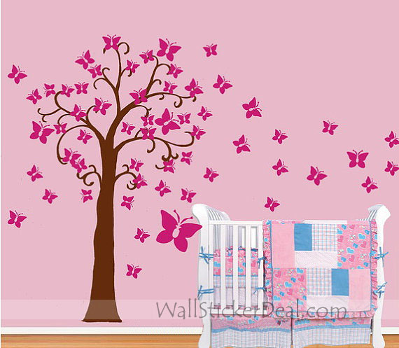 butterfly tree wall sticker home decorating photo butterfly family wall decal