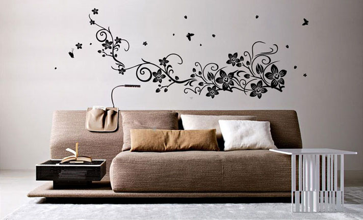 home decorating flower vine fly butterfly wall sticker home sweet home wall sticker decals