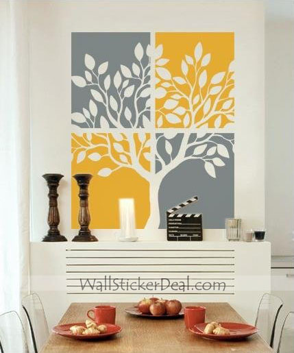 tree painting wall stickers home decorating photo home sweet home wall sticker decals