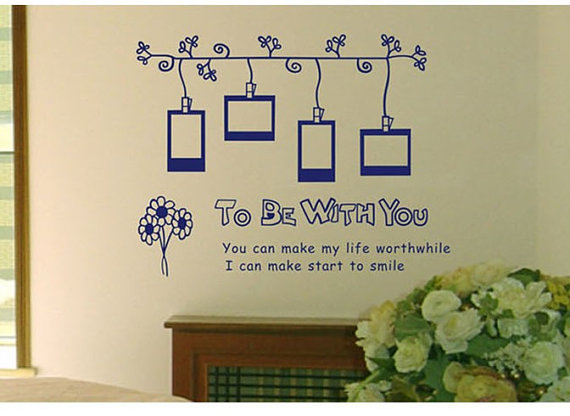 photo frame wall sticker home decorating photo wall decal sticker large vinyl photo picture frame removable black