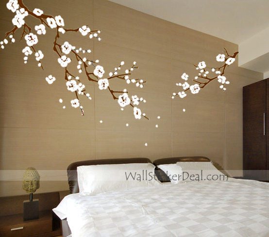 beautiful cherry blossom branches wall stickers home decorating home sweet home wall sticker decals