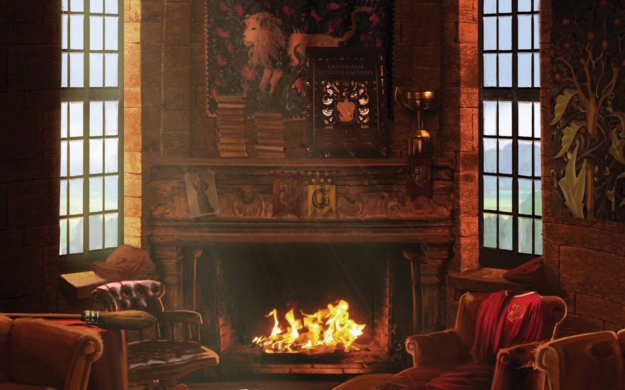 Harry Potter Wohnzimmer Gryffindor Common Room Harry Potter Hintergrund 32846562 Fanpop