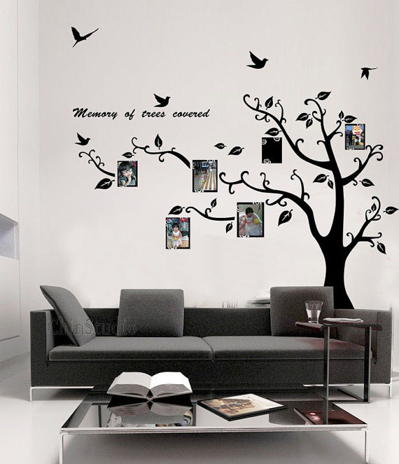 memory tree covered photo frame wall sticker home decorating wall sticker decor beautiful wall sticker decoration