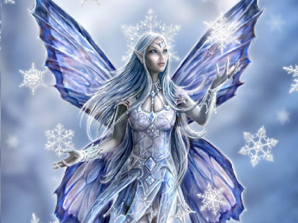 Mythical Creatures In The Fall Wallpaper Winter Fairy Wallpaper Cynthia Selahblue Cynti19