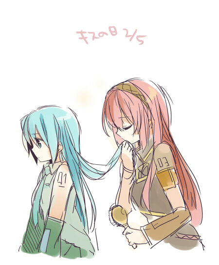 Cute Anime Nsfw Wallpaper Shoujo Ai Images Luka X Miku Wallpaper And Background
