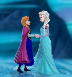 Anna and Elsa - Frozen Fan Art (34118411) - Fanpop