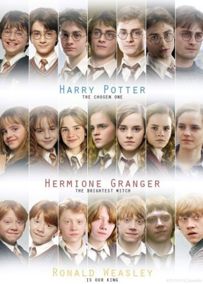 Harry Potter images The golden trio through the years wallpaper and background photos (34320273)