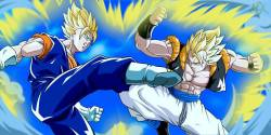 Dragon Ball Z Vegeth vs Gogeta