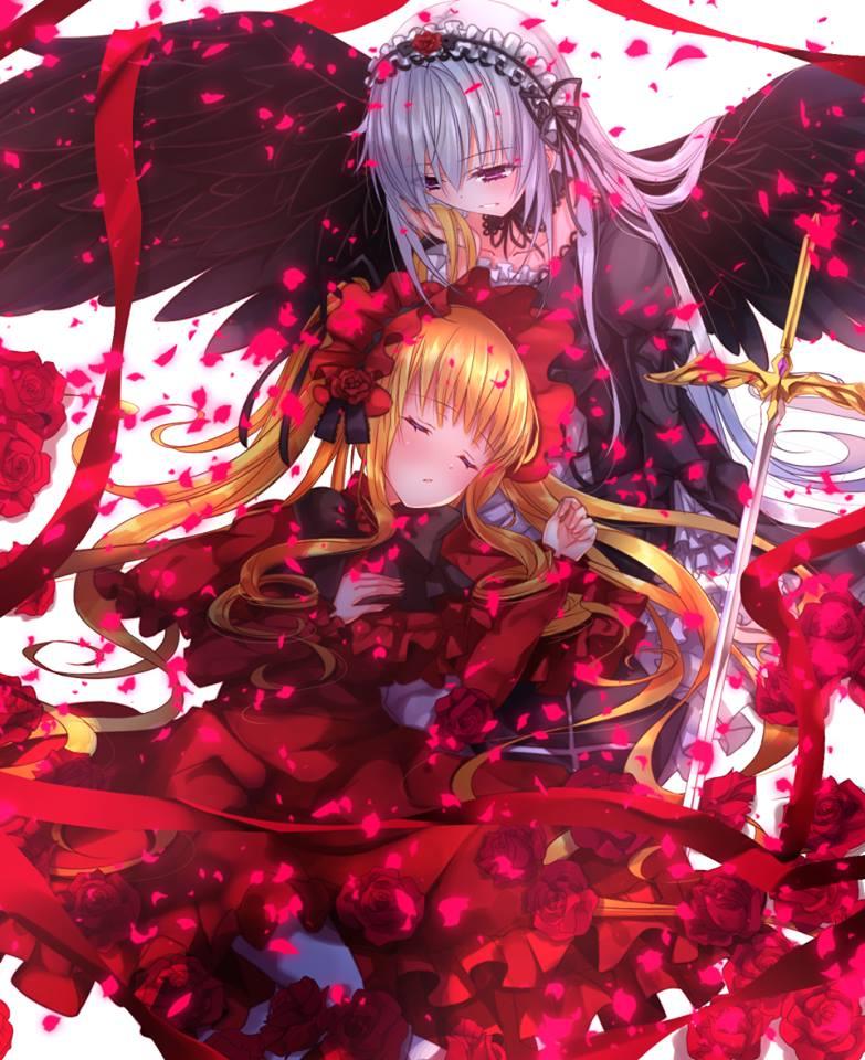 Red Hair Girl Wallpaper Hd Rozen Maiden 2013 Images Shinku Amp Suigintou Hd Wallpaper