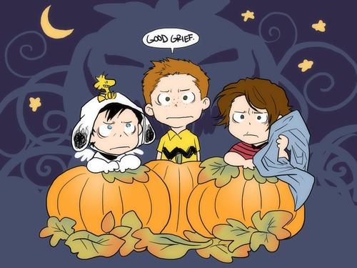 Charlie Brown Fall Wallpaper Happy Halloween Supernatural Fan Art 35975831 Fanpop