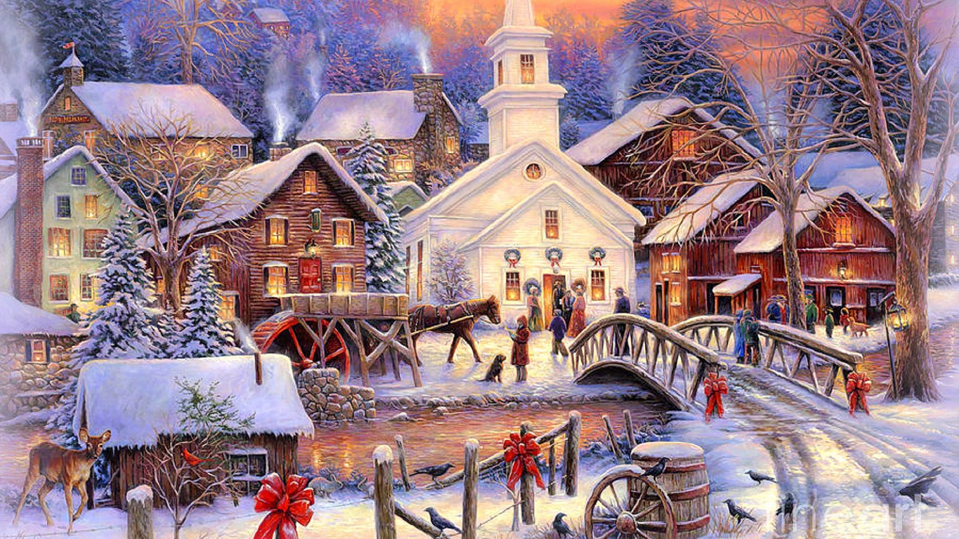 3d Animation Desktop Wallpapers Free Download Christmas Town Scene Christmas Photo 36178867 Fanpop