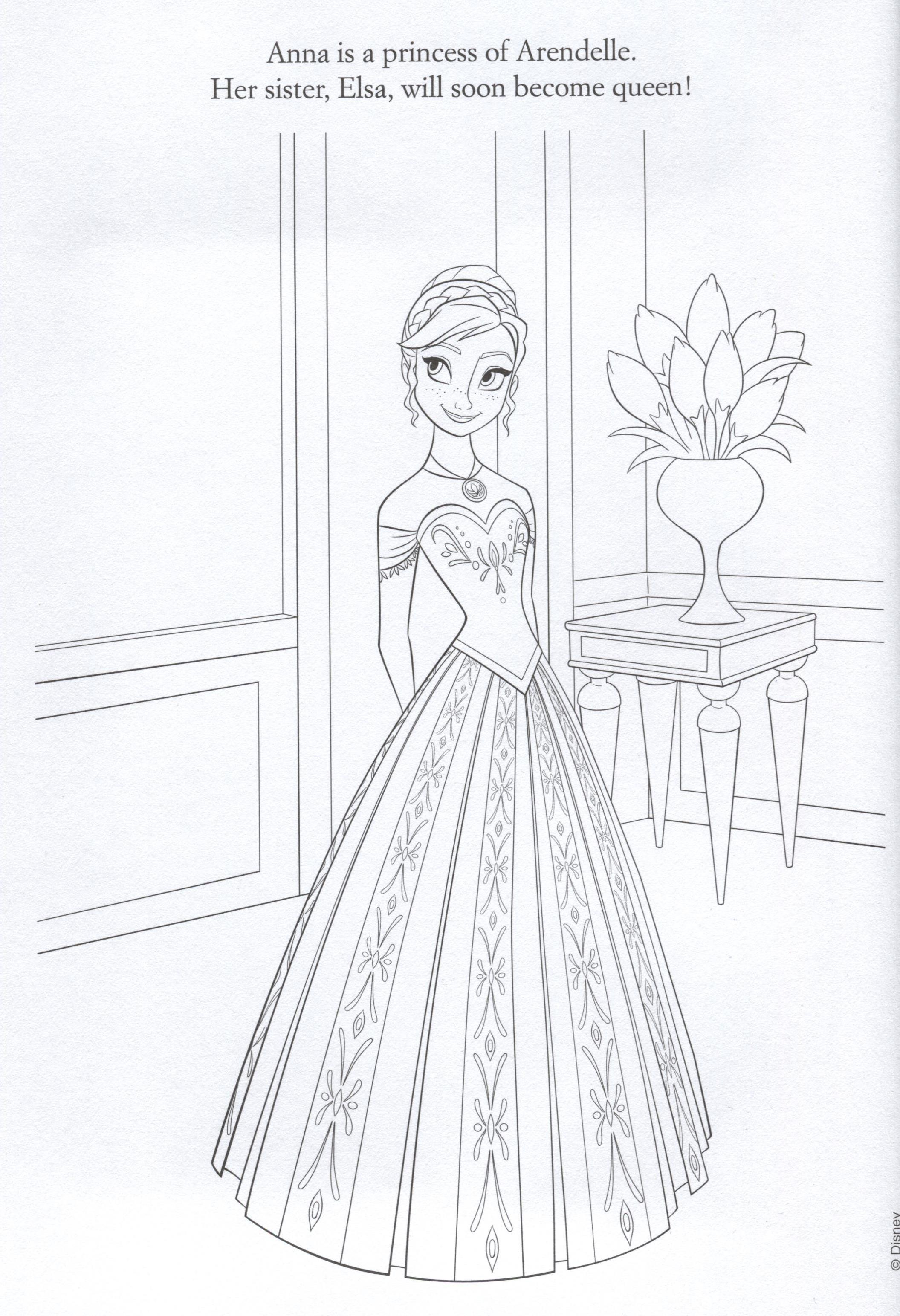 Official frozen illustrations coloring pages frozen photo