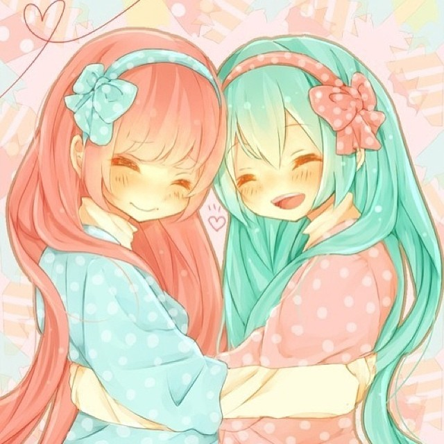 Girl N Boy Kiss Wallpaper Girls Only Anime Club Images Miku And Luka Wallpaper And