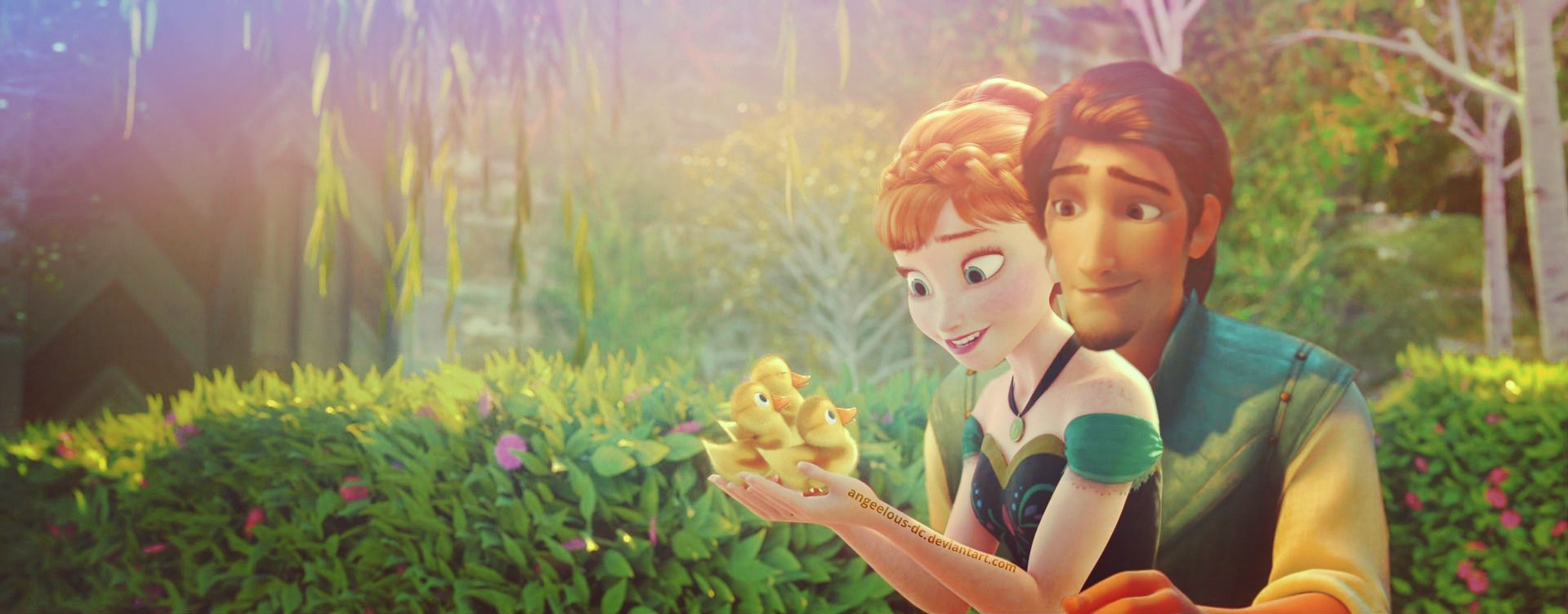 Cute Duckling Wallpaper Disney Crossover Images Flynn Rider Anna Hd Wallpaper And