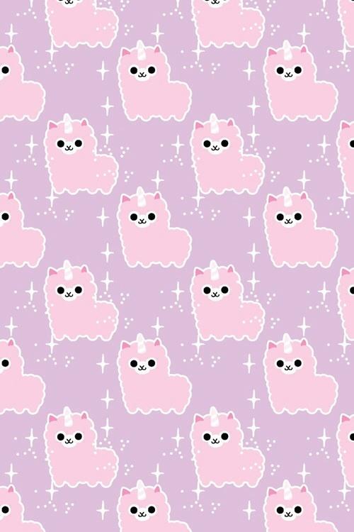 Cute Llamacorn Wallpaper Pastel Images Kawaii Alpaca Pastel Iphone Wallpaper Hd