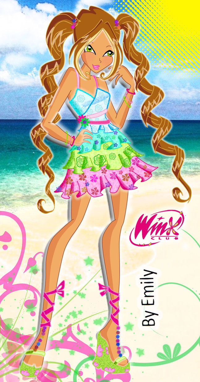 Cute Cartoon Fairy Wallpaper Flora From Winx Club Images Flora Summer Outfit Hd