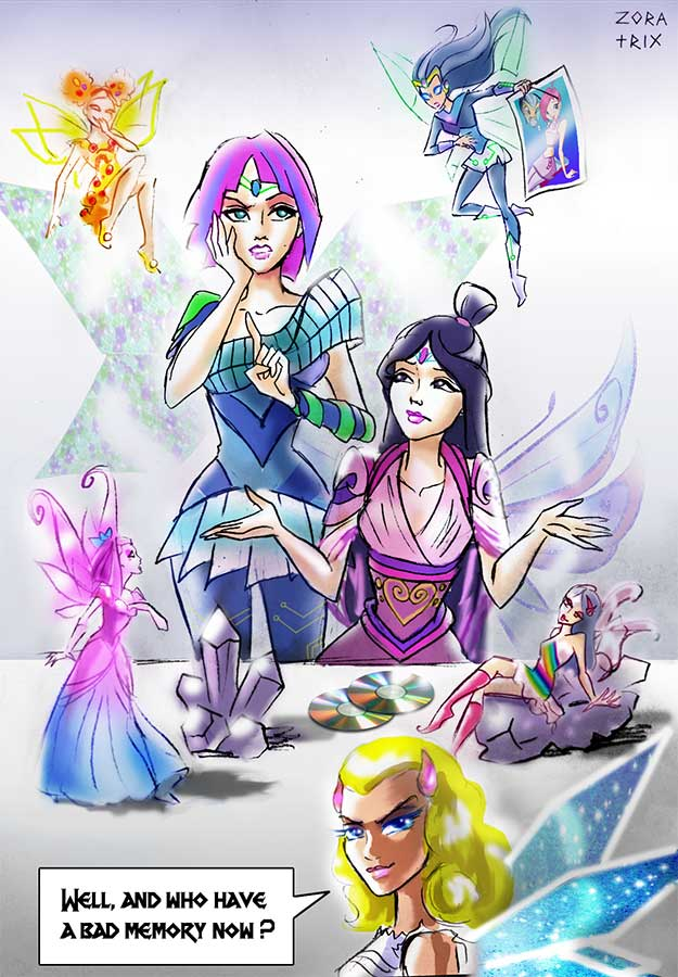 Wallpaper Monster Inc 3d The Winx Club Images Musa And Tecna Forgetting About Tune