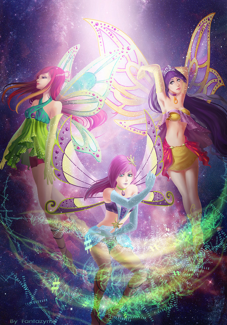 Roxy Wallpaper Iphone The Winx Club Images Roxy Tecna And Tine Enchantix Hd