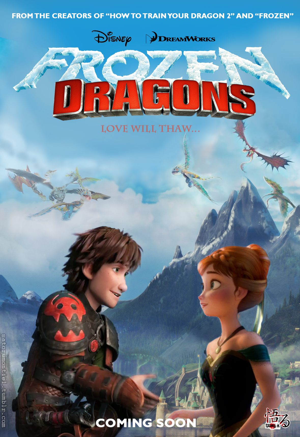 Kids Wallpaper Hd Hiccup And Anna Images Frozen Dragons Hd Wallpaper And