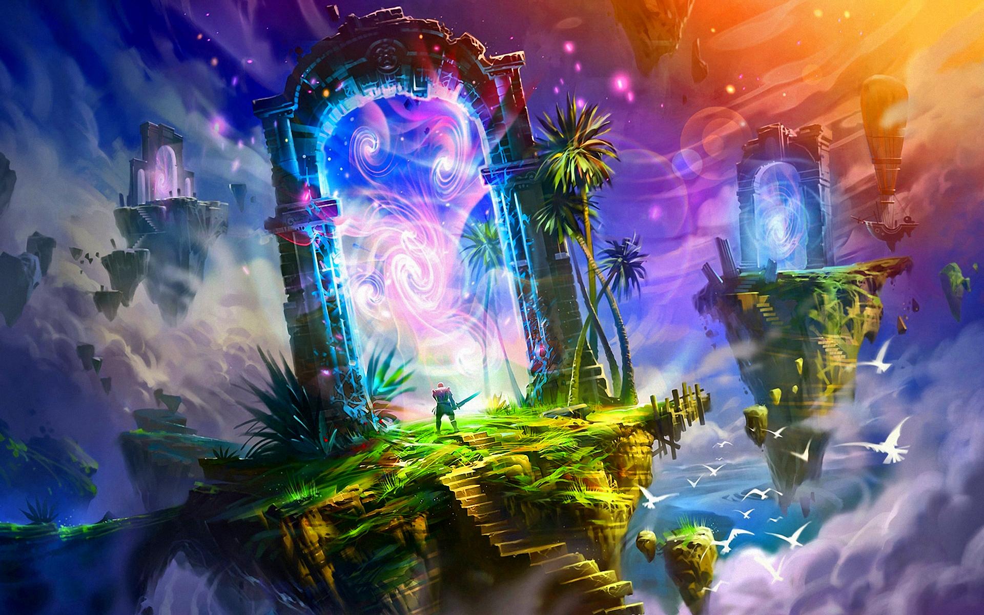 Beautiful Anime Girl Fantasy Forest Wallpaper Fantasy Images Fantasy Land Hd Wallpaper And Background
