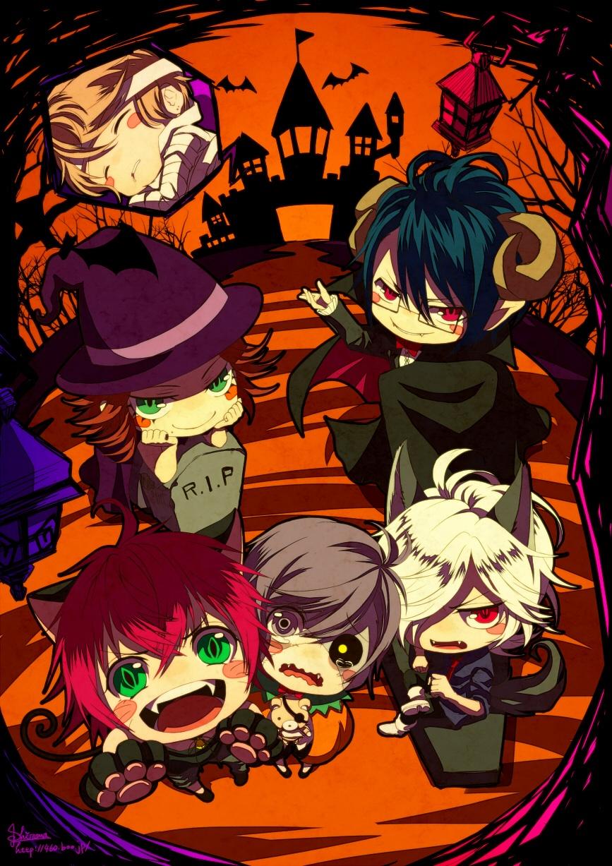 Cute Anime Couple Wallpaper For Iphone Halloween Chibi Diabolik Lovers Fan Art 37743619