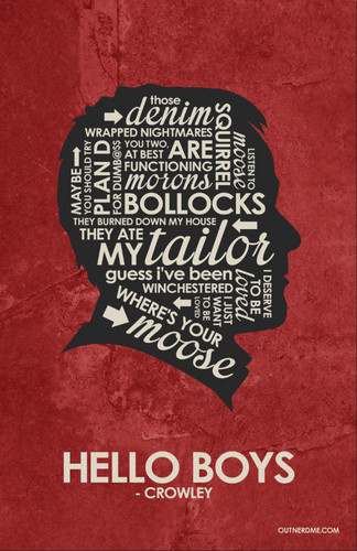 Sherlock Iphone Wallpaper Quote Supernatural Images Crowley Quote Poster Hd Wallpaper And